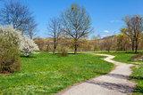 Spring in park Tanaro, Italy.