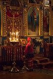 Little girl Pray At Easter