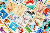 Stamps printed in different countries shows set sport olympic ga