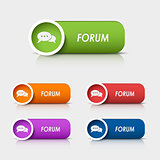 Colored rectangular web buttons forum