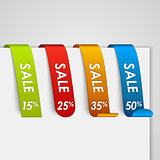 Set of colored paper sale web tags