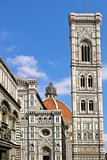 Belfry and Duomo Cathedral in Florence.