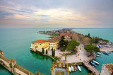 View on Sirmione and Lake Garda from the castle.