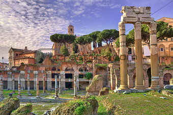 Ancient ruins. Rome, Italy.