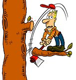Unlucky lumberjack.