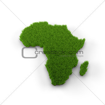 Africa map made of grass