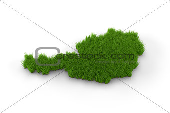 Austria map made of grass