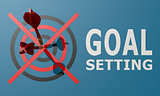 Dart board blue goal setting
