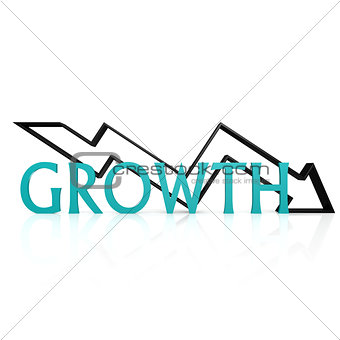 Growth down arrow