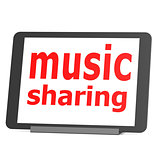 Tablet music sharing