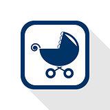 stroller flat icon