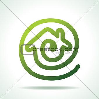 green Home make a message icon