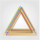 Illustration of triangle made from color lines