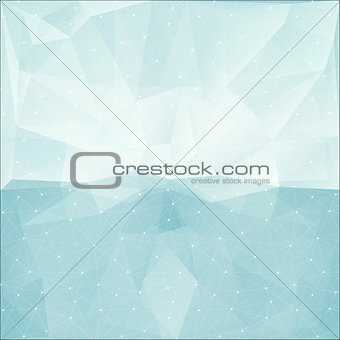 blue abstract polygonal background with triangle texture, vector