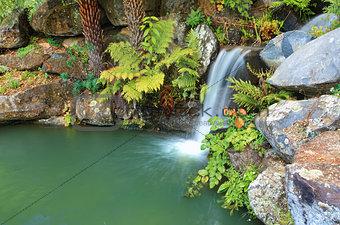 Waterfall and lagoon at Mt Tomah NSW Australia