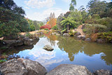 Picturesque lagoon at Mt Tomah in Autumn