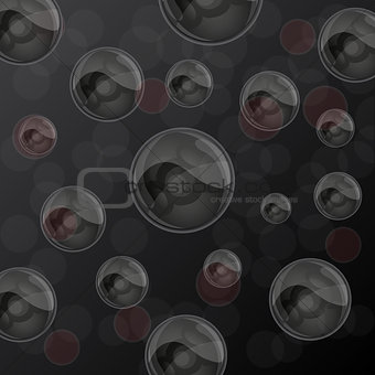 Abstract background with glossy balls. Vector illustration.