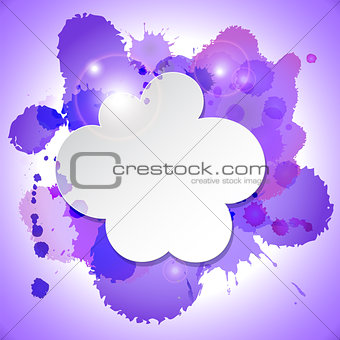 Abstract speech bubble cloud