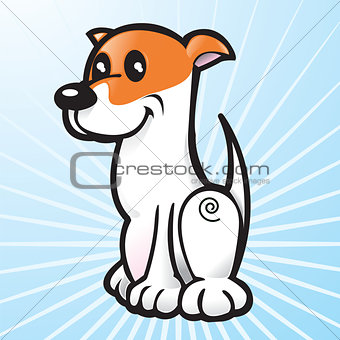 Happy Vector Dog