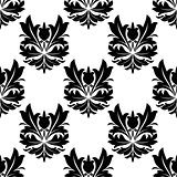 Bold black and white arabesque seamless pattern