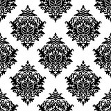 Intricate damask style arabesque pattern