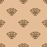 Beige floral seamless pattern background