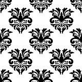 Floral damask style seamless pattern