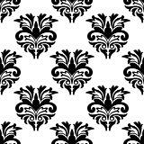 Floral damask style seamless pattern