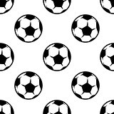 Soccer or football seamless pattern