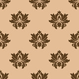 Beige seamless floral pattern background