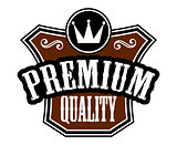 Premium Quality emblem or label