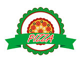 Pizza label or banner