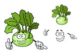 Fun cartoon kohlrabi vegetable
