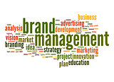 Brand managemen word cloud