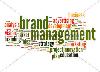 Brand managemen word cloud