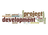 Project development word cloud