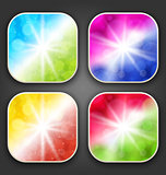 Abstract backgrounds with for the app icons