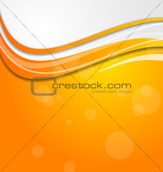 Abstract bright orange background with circles