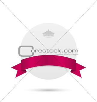 Greeting card with pink ribbon and crown