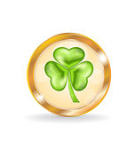 Trefoil icon isolated for Saint Patrick day