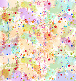 Confetti holiday background, grunge colorful backdrop