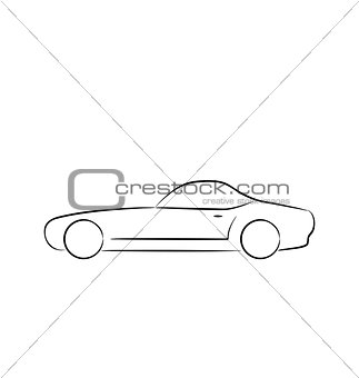 Abstract sport car(profile) isolated on white background