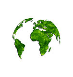 Save the green Earth, environmental symbol