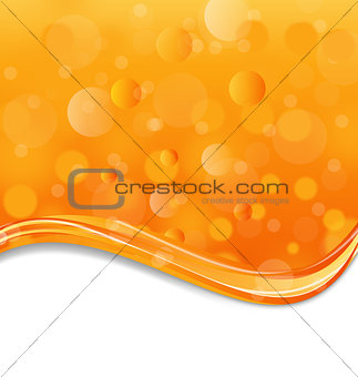 Abstract orange background with light effect