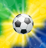 Background with soccer ball, for Brazil 2014