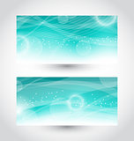 Set abstract water banners, design template