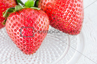 Organic Strawberry fruits