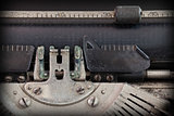 Close up of a dirty vintage typewriter