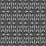 Design seamless monochrome metallic pattern