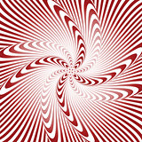 Design whirlpool movement illusion warped background
